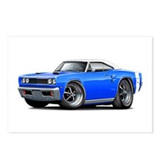 1969 Coronet Blue-White Car Postcards (Package of