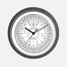 Compass 4 Wall Clock