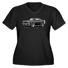 1969 Coronet Black Car Women's Plus Size V-Neck Da