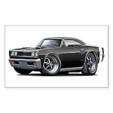 1969 Coronet Black Car Decal