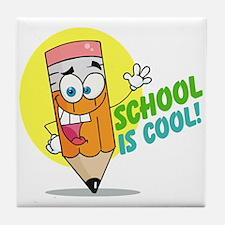 School is Cool Tile Coaster