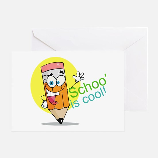 School is Cool Greeting Card