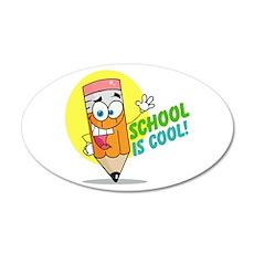 School is Cool 22x14 Oval Wall Peel