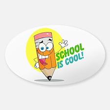 School is Cool Sticker (Oval)