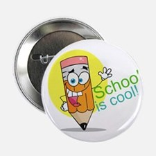 """School is Cool 2.25"""" Button (100 pack)"""