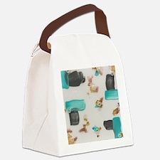 Unique Mixed media Canvas Lunch Bag
