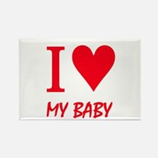 I love (love heart) my baby Rectangle Magnet