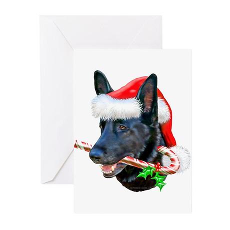 German Shepherd (Black) Greeting Cards (Pk of 10)