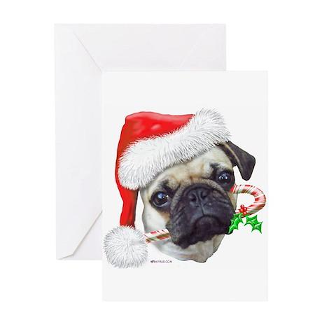 Pug Christmas Greeting Card