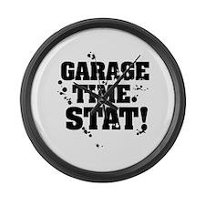 Garage Time. Stat! Large Wall Clock