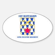 DUI - 1st Bn - 16th Infantry Regt with Text Sticke