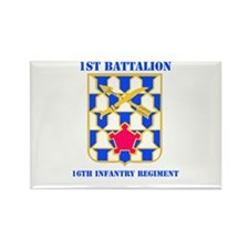 DUI - 1st Bn - 16th Infantry Regt with Text Rectan