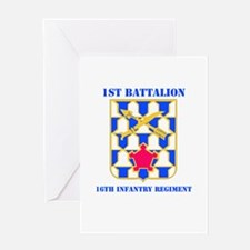 DUI - 1st Bn - 16th Infantry Regt with Text Greeti