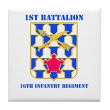 DUI - 1st Bn - 16th Infantry Regt with Text Tile C