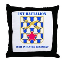 DUI - 1st Bn - 16th Infantry Regt with Text Throw