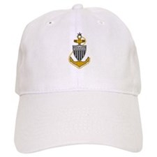 Senior Chief<BR> White Baseball Cap