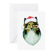 Shetland Sheepdog Christmas Greeting Cards- 10 pk