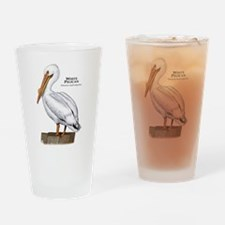 White Pelican Drinking Glass