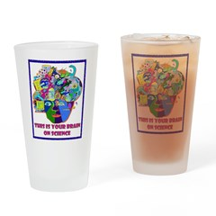 science brain Drinking Glass