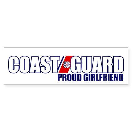 USCG Girlfriend Sticker (Bumper)