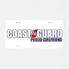 USCG Girlfriend Aluminum License Plate