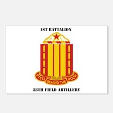 1st Battalion, 38th Field Artillery with Text Post