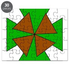 Green and Brown Crosses Puzzle