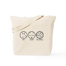 Eat Sleep Volleyball Tote Bag