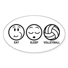 Eat Sleep Volleyball Decal