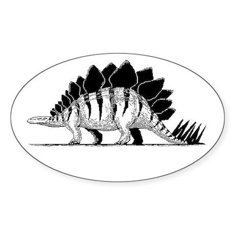 Stegosaurus Oval Sticker
