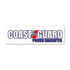 USCG Daughter Car Magnet 10 x 3