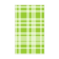 Uneven Plaid in Green Rectangle Decal