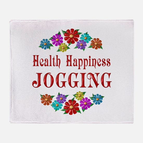 Jogging Happiness Throw Blanket