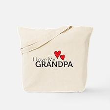 Cute I love grandpa Tote Bag