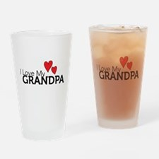 Cute I love grandpa Drinking Glass