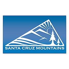 Santa Cruz Mountains Rectangle Decal