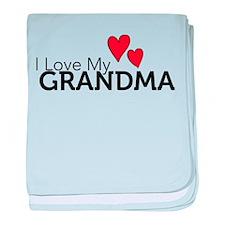 I Love My Grandma baby blanket