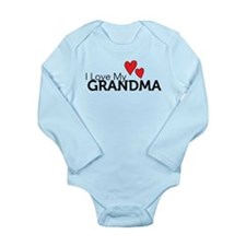 I Love My Grandma Long Sleeve Infant Bodysuit