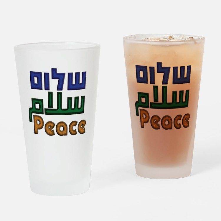 Shalom Salaam Peace Drinking Glass