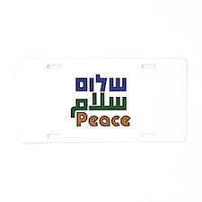 Shalom Salaam Peace Aluminum License Plate