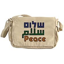 Shalom Salaam Peace Messenger Bag