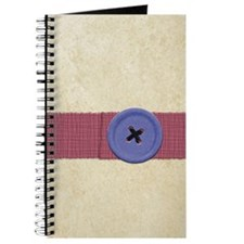 Paper and Blue Button Journal