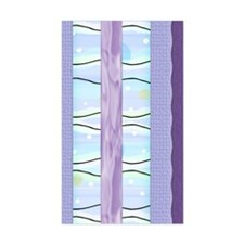 Purple Paper Rectangle Decal