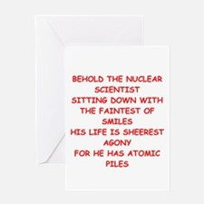 funny physics joke Greeting Card