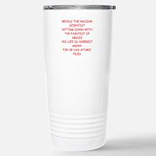 funny physics joke Stainless Steel Travel Mug