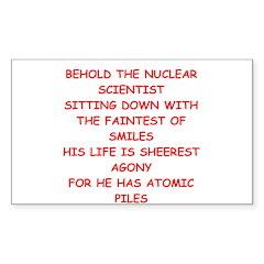 funny physics joke Sticker (Rectangle)
