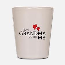 My Grandma Loves Me Shot Glass