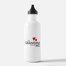 My Grandma Loves Me Water Bottle