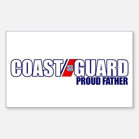USCG Father Sticker (Rectangle)