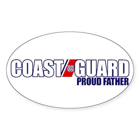 USCG Father Sticker (Oval)